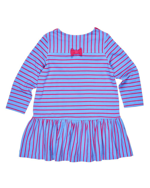 Stripe Low Waist Dress with Bows - Florence Eiseman