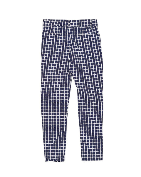 Tween Navy and White Geometric Print Pant - Florence Eiseman