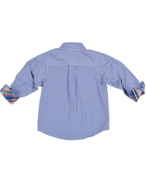 Royal and White Check Button Down - Florence Eiseman