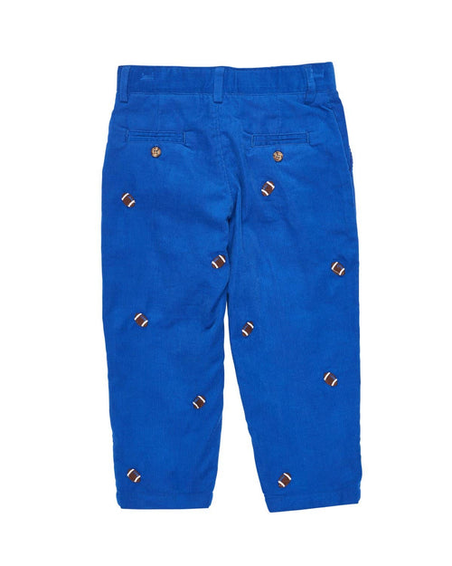 Royal Corduroy Pant with Football Embroidery - Florence Eiseman