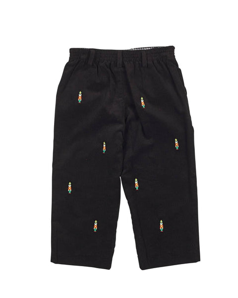 Corduroy Pants with Embroidered Soldiers - Florence Eiseman