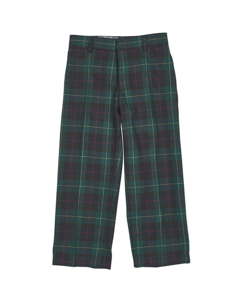 Green and Navy Plaid Tailored Pant - Florence Eiseman