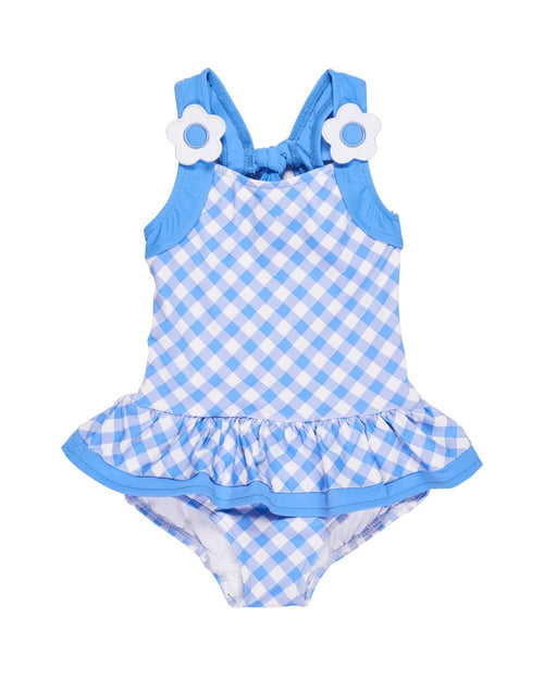 Girls Bias Check Swimsuit - Florence Eiseman