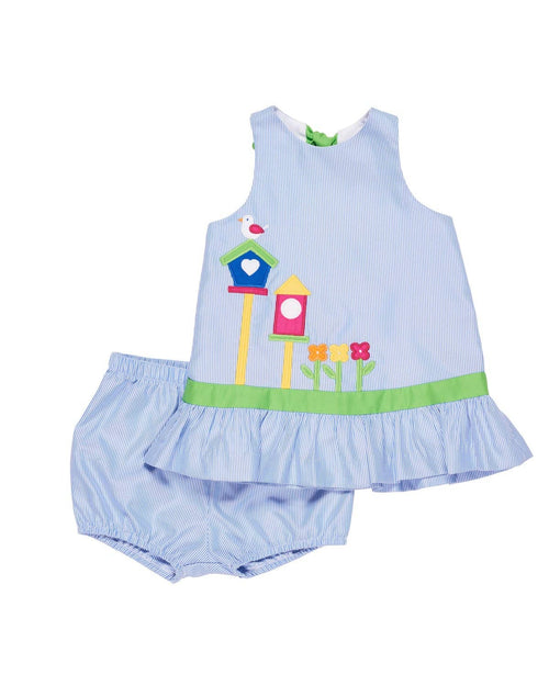 Dress and Bloomer with Birdhouses