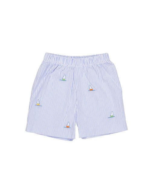 Seersucker Shorts with Sailboats - Florence Eiseman