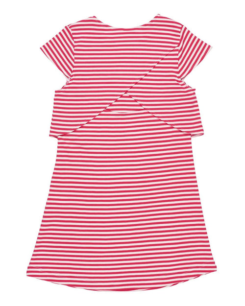 Tween Pink Stripe Knit Dress - Florence Eiseman