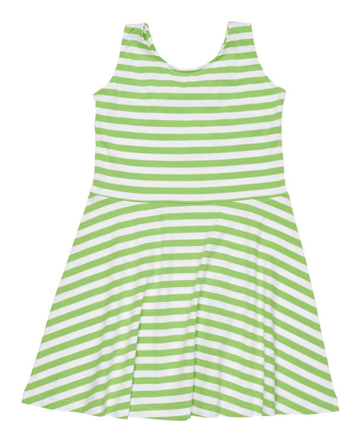 Tween Stripe Knit Dress with Back Bow - Florence Eiseman