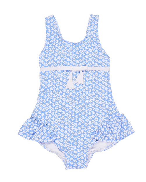 Tulip Print Girls Swimsuit - Florence Eiseman