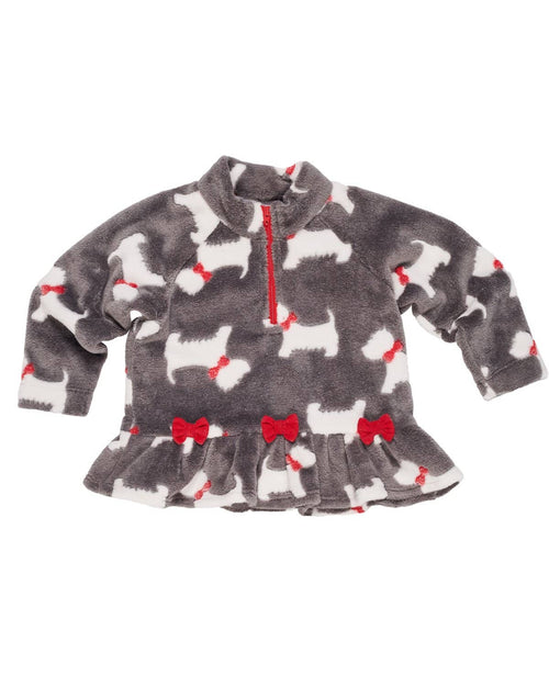 Girls Scottie Dog Fleece Top - Florence Eiseman