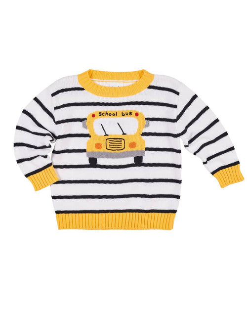 Stripe Sweater with School Bus - Florence Eiseman
