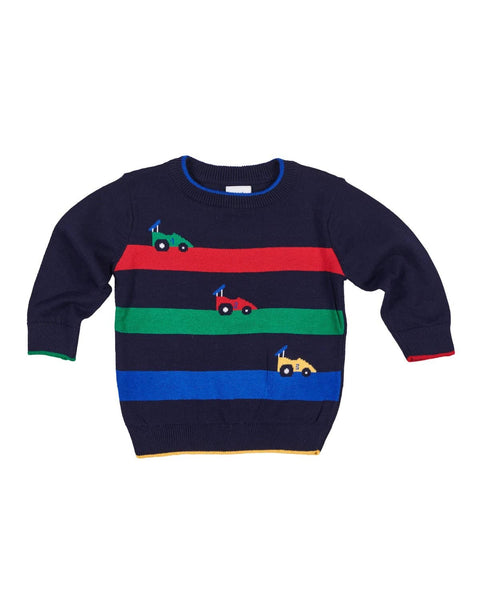 Sweater with Race Cars - Florence Eiseman