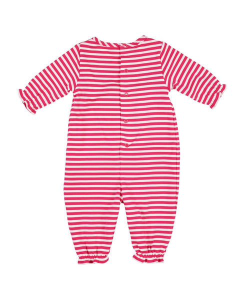 Stripe Knit Apple Romper - Florence Eiseman