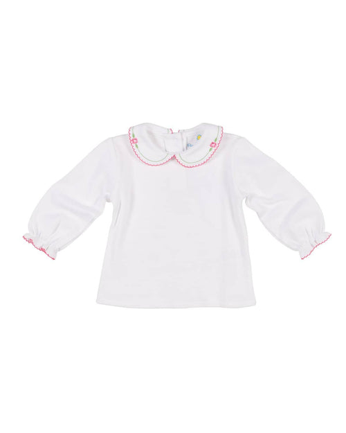 Embroidered Collar Knit Blouse - Florence Eiseman