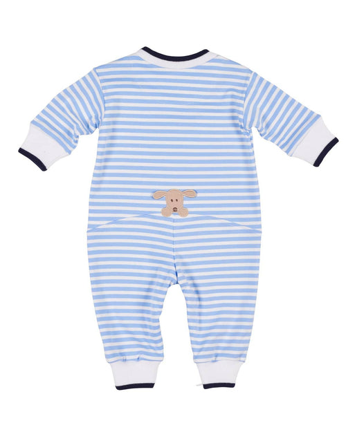 Stripe Knit Doghouse Romper - Florence Eiseman