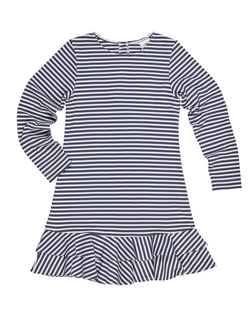 Stripe Knit Dress with Back Shirring - Florence Eiseman