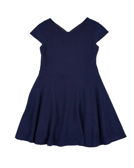 Tween Navy, Aqua & Cream Stripe Knit Dress