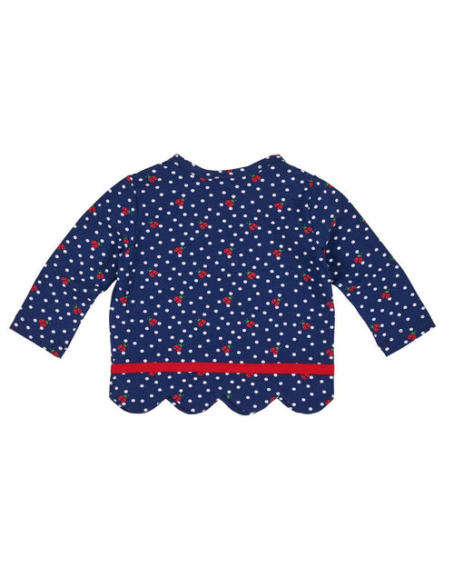 Ladybug Print Top with Scalloped Hem - Florence Eiseman
