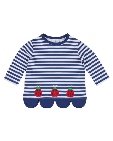 Stripe Knit Top with Ladybugs - Florence Eiseman