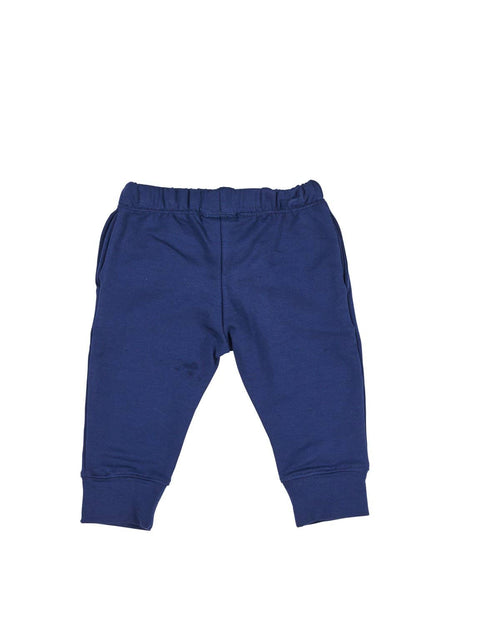 Navy French Terry Jog Pant with Stop Signs - Florence Eiseman