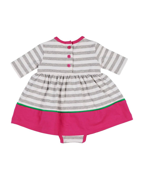 Grey Stripe Onesie Dress - Florence Eiseman