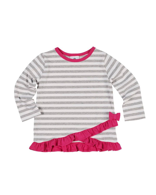Stripe Knit Criss Cross Top - Florence Eiseman