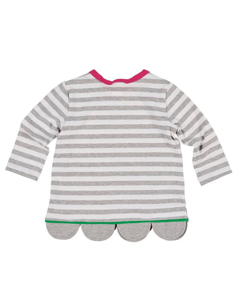 Stripe Knit Top with Scallop Hem - Florence Eiseman