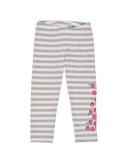 Boys Heather Grey Stripe Top with Appliqued Robot