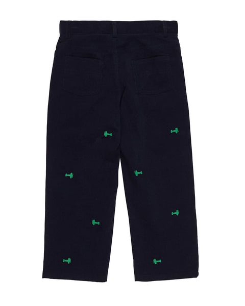 Corduroy Pant with Embroidered Airplanes - Florence Eiseman