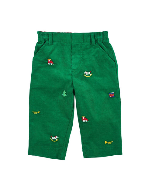 Corduroy Pants with Embroidered Toys - Florence Eiseman