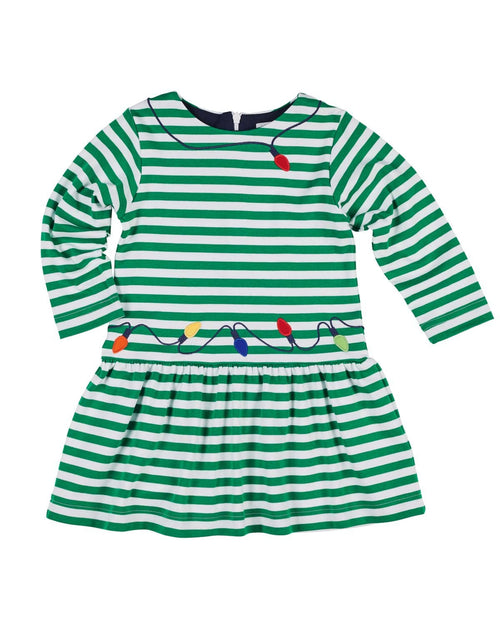 Stripe Dress with Tree Lights - Florence Eiseman