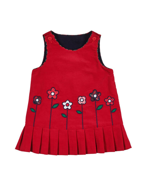 Reversible Corduroy Jumper with Cupcakes & Flowers - Florence Eiseman