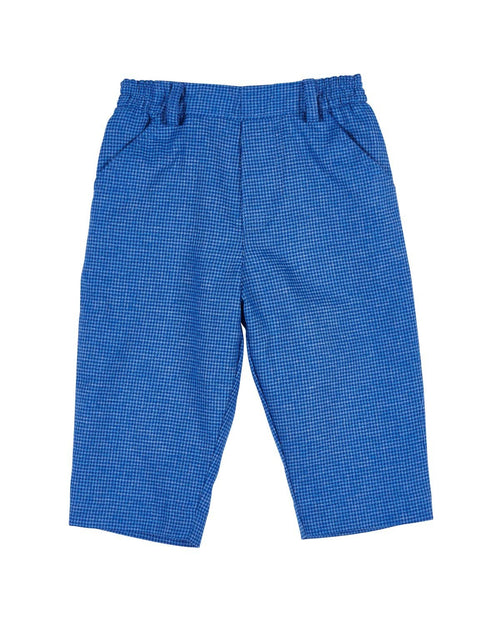 Blue Houndstooth Train Pants - Florence Eiseman