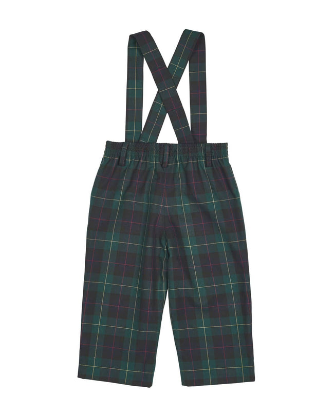 Boys Plaid Suspender Pant - Florence Eiseman