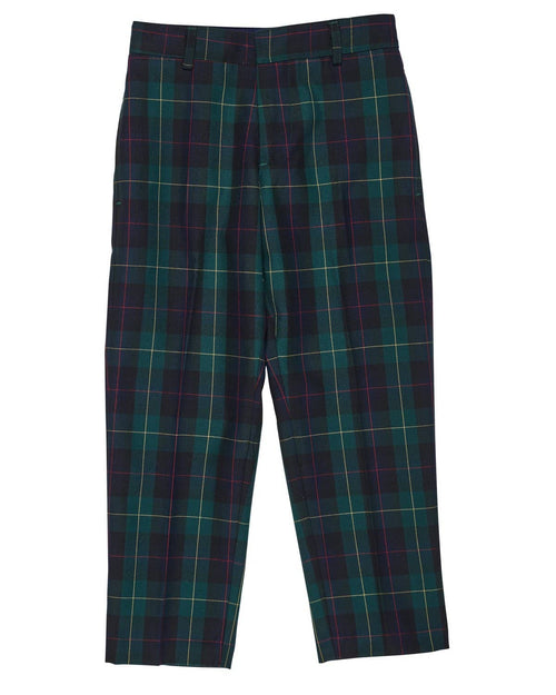 Boys Plaid Fly Front Pant - Florence Eiseman