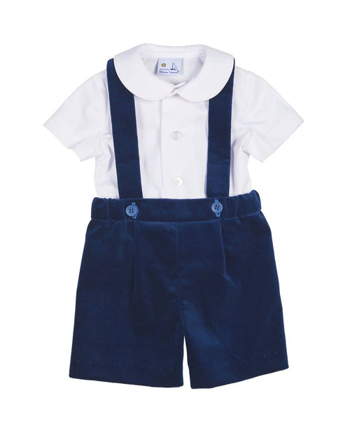 Royal Velvet Suspender Short and Shirt Set - Florence Eiseman