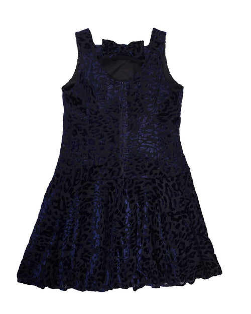 Leopard Velvet Burnout Dress - Florence Eiseman