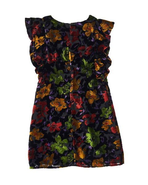 Floral Velvet Burnout Dress - Florence Eiseman