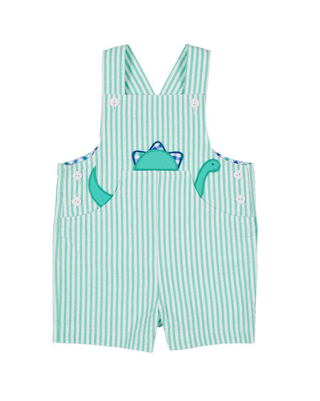 Blue Knit Shortall with Applique Whales