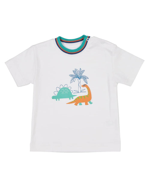 T-Shirt with Dinosaur Screen Print - Florence Eiseman