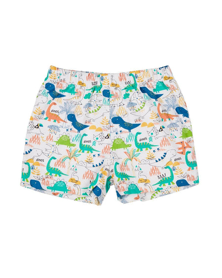 Royal Swim Trunk with Sailboat and Fish Appliques