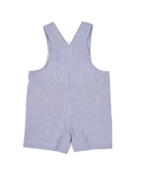 Royal Stripe Seersucker Sand Crab Shortall - Florence Eiseman