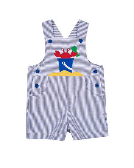 Blue Stripe Knit Baseball Romper