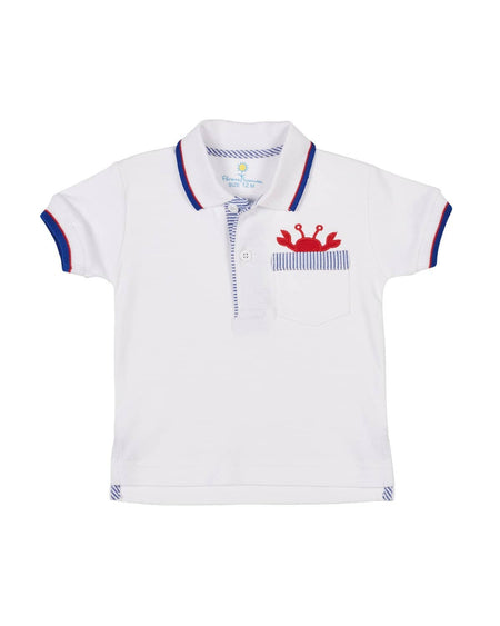 White Polo with Nautical Applique