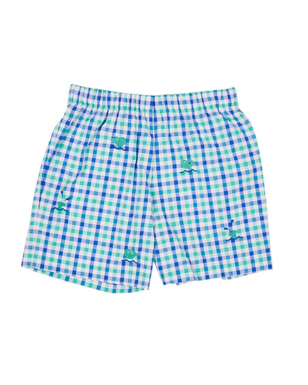 Seersucker Check Shorts