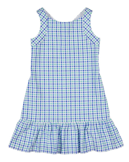 Tween Stripe Chiffon Dress with Pleat