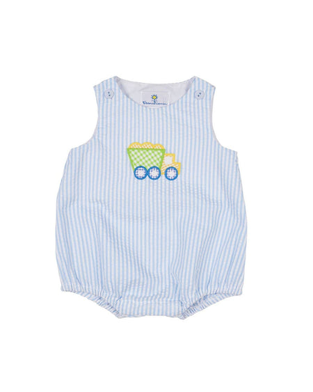 Seersucker Romper with Fish