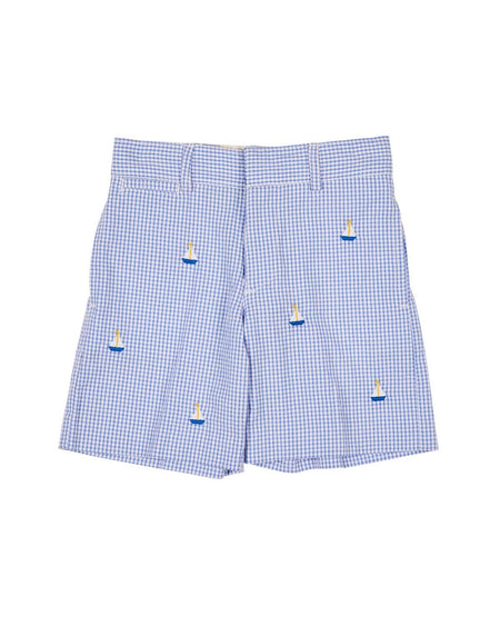 Blue Houndstooth Train Pants