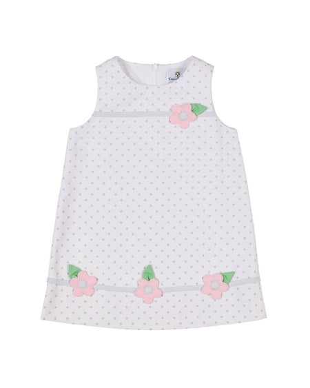 Polka Dot Dress with Flower Pockets