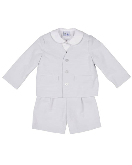 White and Navy Pique Eton Suit