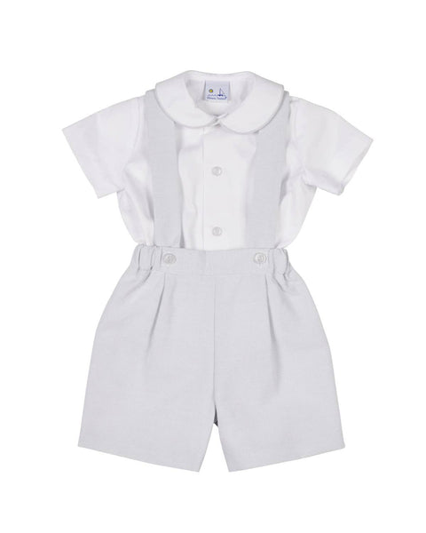 Pinstripe Suspender Short and Shirt - Florence Eiseman